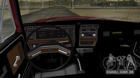 Ford F-150 Ranger 1984 para GTA San Andreas vista interior