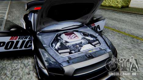 NFS Rivals Nissan GT-R R35 para GTA San Andreas vista traseira