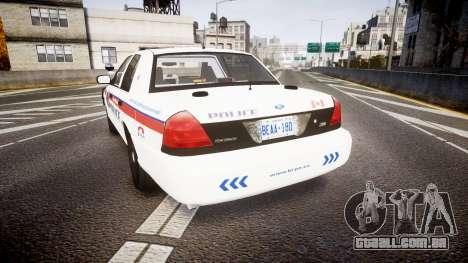 Ford Crown Victoria Bohan Police [ELS] WL para GTA 4 traseira esquerda vista