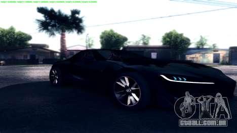 Dark ENB Series para GTA San Andreas por diante tela