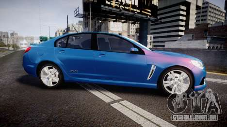 Holden VF Commodore SS Unmarked Police [ELS] para GTA 4 esquerda vista