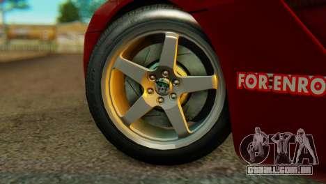 Dodge Viper SRT10 para GTA San Andreas traseira esquerda vista