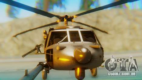 MH-60L Blackhawk para GTA San Andreas vista interior