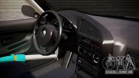 BMW M3 E36 GT-Shop para GTA San Andreas traseira esquerda vista