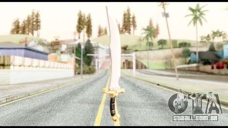 Falchion Sword of Final Fantasy para GTA San Andreas segunda tela