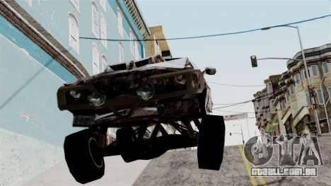 Post-apocalyptic Buffalo para GTA San Andreas traseira esquerda vista