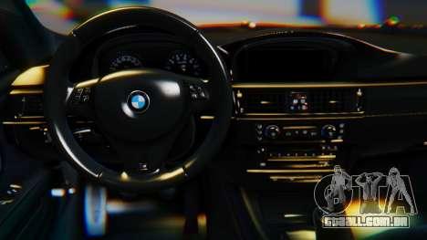 BMW M3 E92 2008 para GTA San Andreas traseira esquerda vista