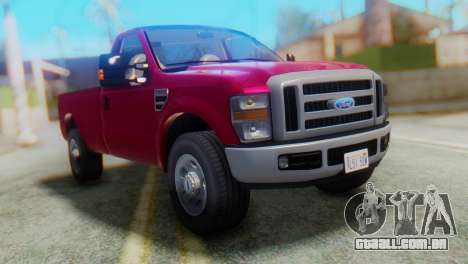 Ford F-350 Super Duty Táxi Regular de 2008 FIV А para GTA San Andreas