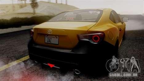 Toyota GT86 PJ para GTA San Andreas vista superior