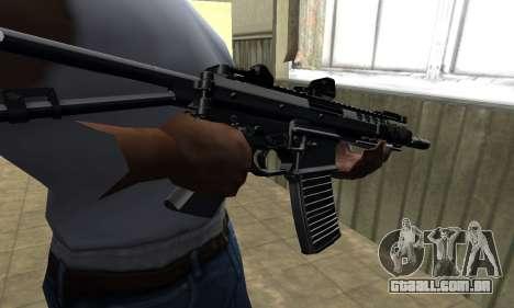 Full Black Automatic Gun para GTA San Andreas
