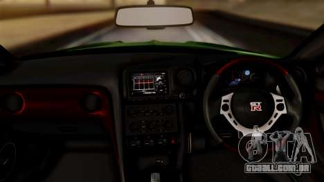 Nissan GT-R R35 Bensopra 2013 para GTA San Andreas vista direita