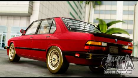 BMW M5 E28 1985 NA-spec para GTA San Andreas esquerda vista