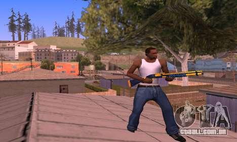 Shotgun BlueYellow para GTA San Andreas terceira tela