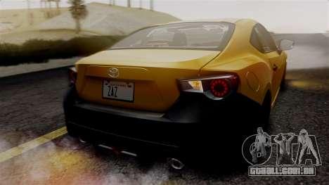 Toyota GT86 PJ para vista lateral GTA San Andreas