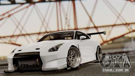 Nissan GT-R R35 Bensopra 2013 para vista lateral GTA San Andreas