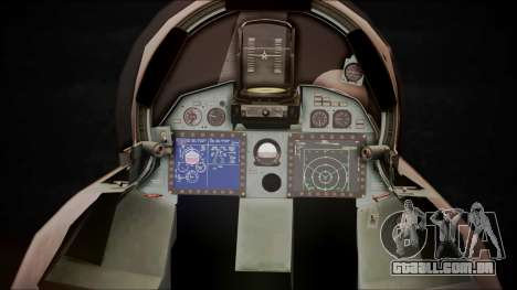 SU-35 Flanker-E Ofnir Ace Combat 5 para GTA San Andreas vista traseira
