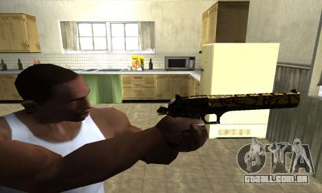 Yellow Jungle Deagle para GTA San Andreas terceira tela