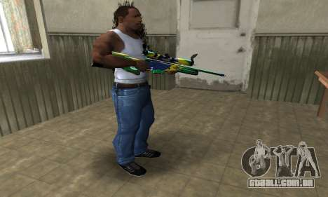 Three Colors Sniper Rifle para GTA San Andreas terceira tela