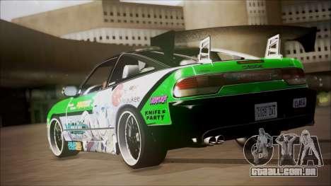 Nissan 240SX Sinon Itasha para GTA San Andreas traseira esquerda vista