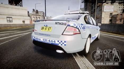 Ford Falcon FG XR6 Turbo Police [ELS] para GTA 4 traseira esquerda vista
