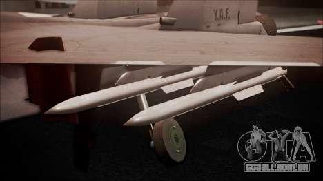 SU-35 Flanker-E Ofnir Ace Combat 5 para GTA San Andreas vista direita