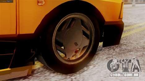 Fiat 147 Al Piso para GTA San Andreas traseira esquerda vista