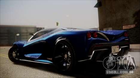 GTA 5 Grotti Turismo R SA Style para GTA San Andreas esquerda vista