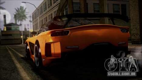 Mazda RX-7 Veilside para GTA San Andreas esquerda vista