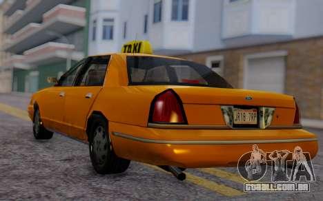 Ford Crown Victoria Taxi para GTA San Andreas esquerda vista