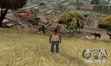Aumentar a amplitude de vetorização para GTA San Andreas terceira tela
