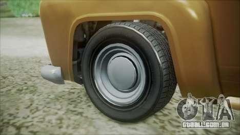 GTA 5 Vapid Slamvan para GTA San Andreas traseira esquerda vista