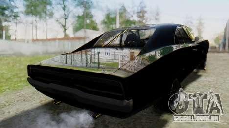 Dodge Charger RT 1970 Fast & Furious para GTA San Andreas esquerda vista
