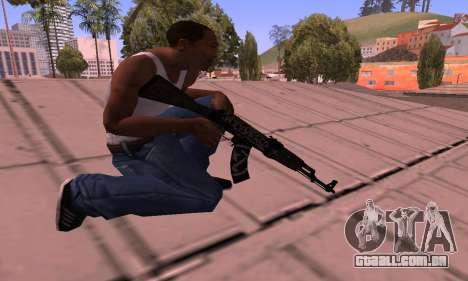 AK-47 Rebelde para GTA San Andreas terceira tela