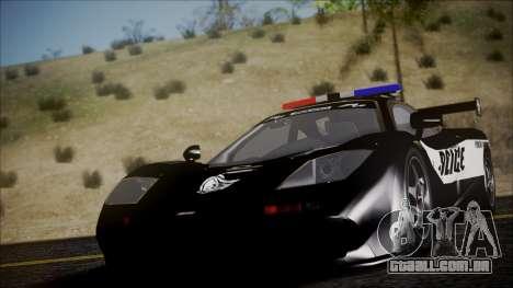 NFS Rivals McLaren F1 LM para GTA San Andreas vista direita