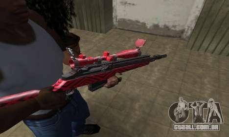 Red Romb Sniper Rifle para GTA San Andreas