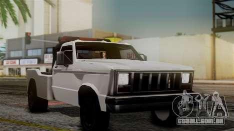 Towtruck New Edition para GTA San Andreas traseira esquerda vista