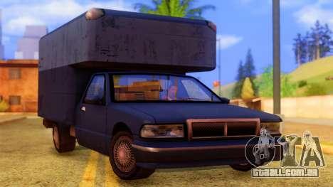 Premier Truck para GTA San Andreas vista direita