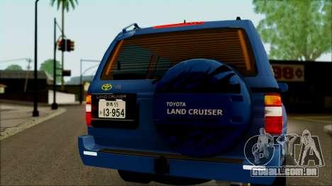 Toyota Land Cruiser 100 UAE Edition para GTA San Andreas vista interior