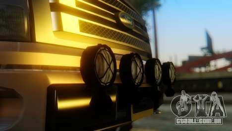 Ford F-150 2013 Work Hard para GTA San Andreas vista traseira