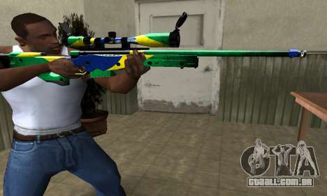 Three Colors Sniper Rifle para GTA San Andreas