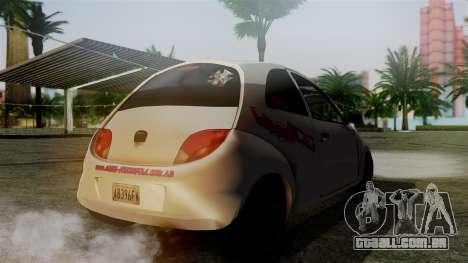 Ford Ka El Patan para GTA San Andreas esquerda vista