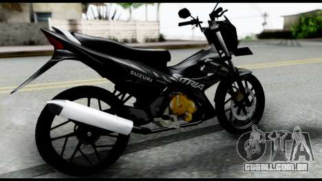 Satria FU Dark Fighter Predator para GTA San Andreas esquerda vista