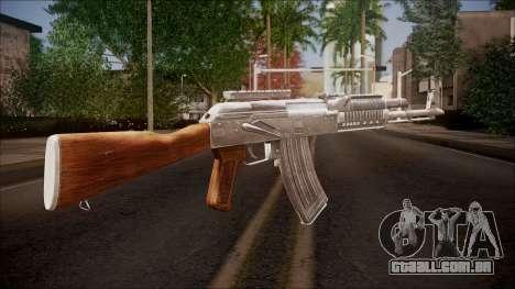 AK-47 v2 from Battlefield Hardline para GTA San Andreas segunda tela