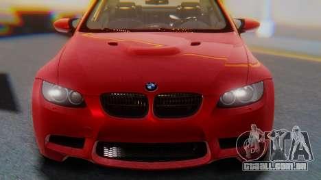BMW M3 E92 2008 para GTA San Andreas vista traseira