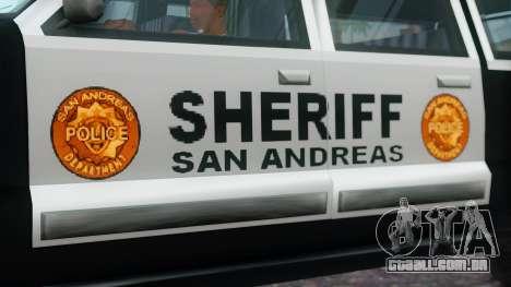 Police 4-door Yosemite para GTA San Andreas vista direita