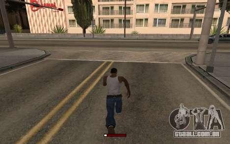 SprintBar para GTA San Andreas segunda tela