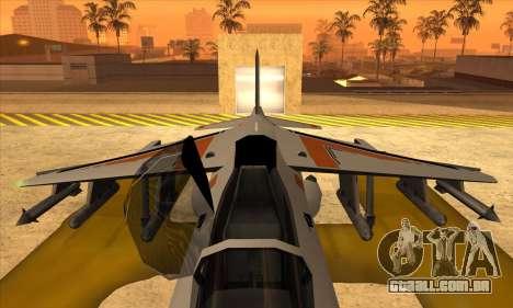 Hydra Asiimov para GTA San Andreas traseira esquerda vista