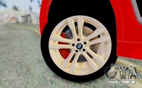 BMW X6M para GTA San Andreas traseira esquerda vista