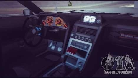 Elegy Lumus para GTA San Andreas vista inferior