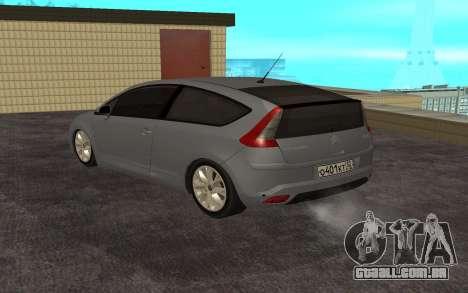 Citroen C4 para GTA San Andreas traseira esquerda vista